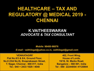 Healthcare - Tax and Regulatory - GST