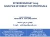 Interim Budget 2019 Analysis of Direct Tax Proposals